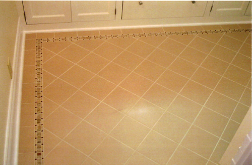 ceramic floor tile installation